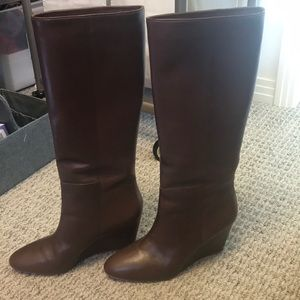 Loeffler Randall knee-high wedge boots size 9.5